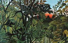 equatorial jungle henri rousseau | Henri Rousseau / via Lejardindeclaire