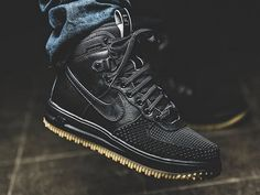 Available now. Nike Lunar Force 1 Duckboot Black. http://ift.tt/1KGuxv1