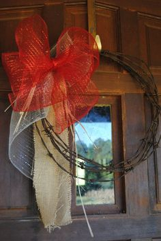 Barbwire Wreath by SouthernLifebyHollie on Etsy, $25.00