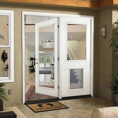 Fiberglass White Left Hand Outswing Hinged Patio Door, Smooth White  Interior And Exterior | Patio Doors, Patios And Products