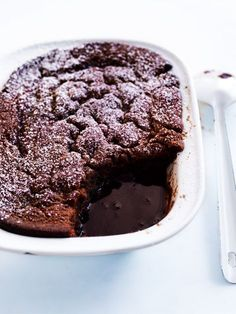 sticky date and caramel self-saucing pudding