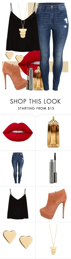 """""""boots"""" by clo-23 ❤ liked on Polyvore featuring Lime Crime, Thierry Mugler, H&M, MAC Cosmetics, Raey, Giuseppe Zanotti, Lipsy and Gorjana"""