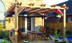 The pergola kits are the easiest and quickest way to build a garden pergola. There are lots of do it yourself pergola kits available to you so that anyone could easily put them together to construct a new structure at their backyard. Diy Pergola, Wood Pergola Kits, Pergola Cost, Cedar Pergola, Building A Pergola, Pergola Canopy, Deck With Pergola, Wooden Pergola, Outdoor Pergola