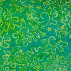 fabric - Lime Green Tonal Batik Jade green and lime tropical batik fabric by Princess Mirah. 100% cotton. cy-2 5299