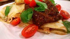 Pañuelitos fríos con salsa mediterránea