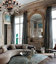 The layout and decor of this Paris apartment is stunning! ❤✔ #finedesigntradingcompany #apparel #decor #gifts
