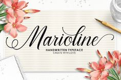 Marioline Script Fonts Marioline Script is a handwritten typeface with classic root. a beautiful formal script and elegant by josstype Script Fonts, All Fonts, Microsoft Word 2010, Character Map, Premium Fonts, Glyphs, Business Card Logo, Print Ads, School Design