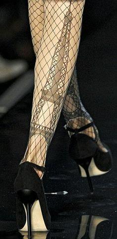 Beautiful Fashion Details...Eiffel Tower Stockings by Jean Paul Gaultier.