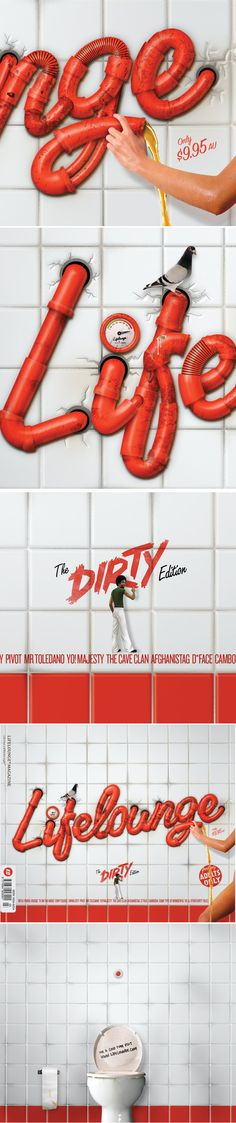Dirty Type by Luke Lucas, via Behance