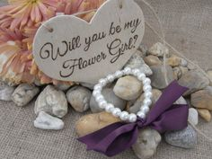 SALE Will you be my flower girl wood sign and by AlexAndIulia