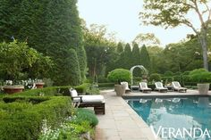 Melanie Acevedo photographs Charlotte Moss' garden oasis and Kelli Ford's waterfront vacation home for Veranda magazine Outdoor Rooms, Outdoor Gardens, Outdoor Living, Moss Garden, Garden Pool, Oasis Backyard, Garden Privacy, Backyard Paradise, Succulent Planters