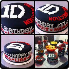 One Direction birthday cakes - http://cakesmania.net/one-direction-birthday-cakes/