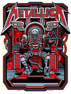Metallica St Louis 2017 gig poster by Jesse Philips Metallica Concert, Metallica Art, Rock Posters, Band Posters, Music Posters, Metal Bands, Rock Bands, Hard Rock, Iron Maiden Posters