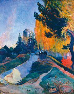 Walking in Autumn by Paul Gauguin.