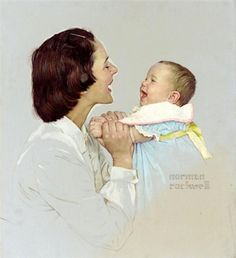 """""""Harmony - Swift's Baby Food"""" by Norman Rockwell.  (Children in Art History Website.)"""