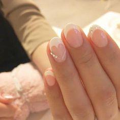 nail tips design Cases Frensh Nails, Red Nails, Hair And Nails, Cute Nail Art, Cute Nails, Pretty Nails, Nail Tip Designs, French Nail Designs, Nail Mania
