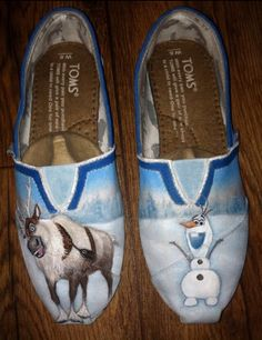 Frozen Toms - Cute! by FancyFeetArt on Etsy