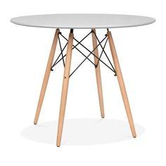 Eames Style 90cm Hellgrau DSW Runder Tisch | Esstische | Cult Furniture DE