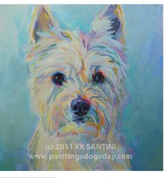 I love this painting of a westie!