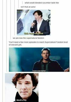I'm actually a Sherlockian first and foremost but Supernatural will always win the GIF war
