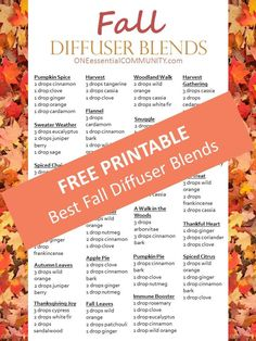 recipes for 20 fall diffuser blends -- easy, non-toxic ways to make your home…