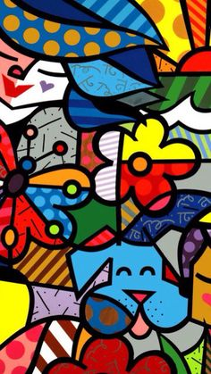 Discover thousands of images about Inspiration for a project (line,shape,color and pattern). Mickey Mouse Art, Joker Card, Tableau Design, Arte Country, Arte Pop, Posca, Mural Art, Ceramic Painting, Canvas Artwork
