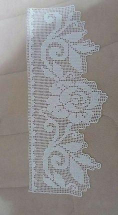 This Pin was discovered by Çiğ Crochet Lace Edging, Unique Crochet, Crochet Borders, Crochet Stitches Patterns, Love Crochet, Filet Crochet, Crochet Designs, Crochet Baby, Stitch Patterns