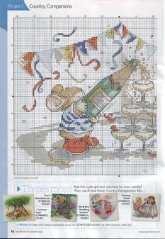 Let's Party! (Country Companions) From The World Of Cross Stitching N°198 2013 3 of 4