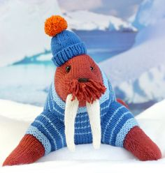 Knitting Pattern for Akiak the Walrus