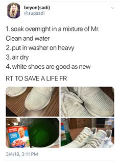 34 Trendy cleaning hacks tips and tricks shoes Girl Life Hacks, Simple Life Hacks, Useful Life Hacks, Life Tips, House Cleaning Tips, Diy Cleaning Products, Cleaning Hacks, Hacks Diy, Home Hacks