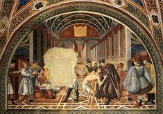Feeding of the Poor 1444 Fresco, height c. 450 cm Pellegrinaio, Spedale di Santa Maria della Scala, Siena