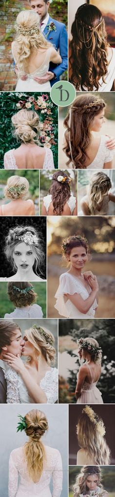 15 PERFECT HAIRSTYLES FOR THE BOHO BRIDE Boho wedding hairstyles tend to have th…  http://www.wowhairstyles.site/2017/07/23/15-perfect-hairstyles-for-the-boho-bride-boho-wedding-hairstyles-tend-to-have-th/