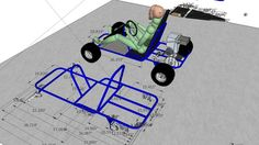 Large preview of 3D Model of Honda 5.5 hp GoKart