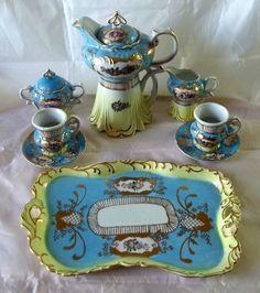 Royal Vienna Porcelain Coffee Set. yahoo.aleado.com