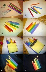 Brosa din creioane colorate :)