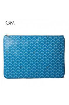 Goyard Clutch Bag GM Sky Blue Goyard Clutch, Clutch Bag, Sky, Shoe Bag, Blue, Shoes, Heaven, Zapatos, Shoes Outlet