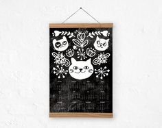 Wall calendar 2015 CATDoodle A3 A3 size 100% recycled by DURIDO