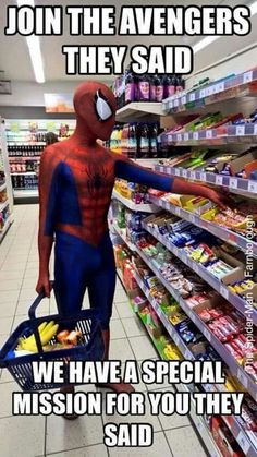 Spider-Man and The Avengers funny: