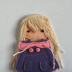 Felt paper doll Starter set Gift idea for a girl
