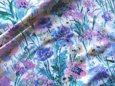 Vintage Liberty Cotton Chintz Interiors Fabric 'Poppyfield' Panel | eBay