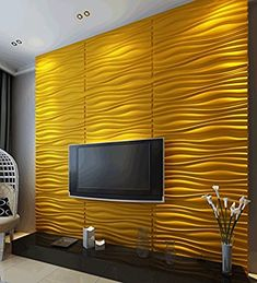 Decoration Brick Design Wall Decor, PVC Wall Panels, Textured Modern Design for TV Walls/Bedroom/Living Room ~ DOLLAGE - We have clothing, shoes and handbags from top fashion brands, style icons and celebrities. Wall Texture Design, Wall Panel Design, Wall Tiles Design, Pvc Wall Panels Designs, Pvc Panels, Textured Wall Panels, Decorative Wall Panels, 3d Wandplatten, Pvc Ceiling Design