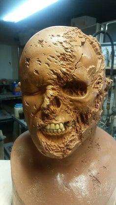 Zombie Head, Swamp Creature, Prosthetic Makeup, Traditional Sculptures, Movie Makeup, Aliens, Mask Painting, Special Effects Makeup, Dc Comics Art