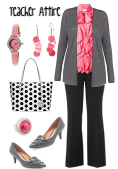 Teacher Outfit - Teacher Clothes - Wear to Work - Teacher Attire Series: Outfit 20 a Fashion Collage by DanielleJevette created on Polyvore
