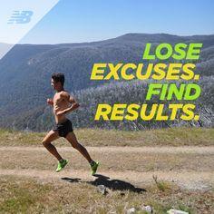 """""""Perca desculpas. Encontre resultados"""". #running #inspiration #inspiração #freecs"""