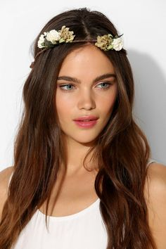 Paper Flower Crown Tie-Back Headwrap