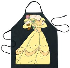 Collectable Aprons! Belle Beauty & The Beast WannaBe Baking or BBQ Apron Adult #ici #tieback