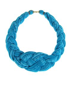 Collar Necklace Braided Jewelry Knotted Choker Tribal by Necklush, $46.00