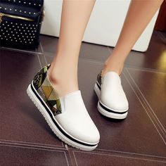 04bb594150 Slip On Shoes Flat Platform Women Oxfords Shoes Loafers Flats Woman Casual  Shoes High Quality Plus