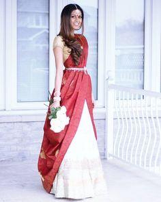 10 Totally LIT Bridal dupatta draping styles you NEED to See! Saree Draping Styles, Saree Styles, India Fashion, Ethnic Fashion, Women's Fashion, Indian Dresses, Indian Outfits, Bridal Dupatta, Saree Wearing