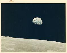 ウィリアム・アンダース撮影、人類が初めて目にした「地球の出」アポロ8号 William Anders, First Earthrise seen by human eyes, Apollo 8, December 1968